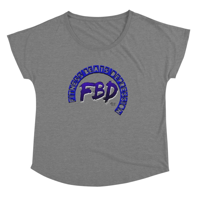 Fitness Beats Depression Women's Scoop Neck by Faithful & Focused Store