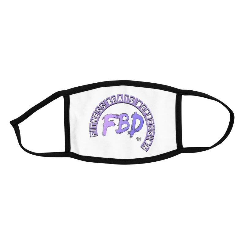 FITNESS BEATS DEPRESSION LAVENDER Accessories Face Mask by Faithful & Focused Store