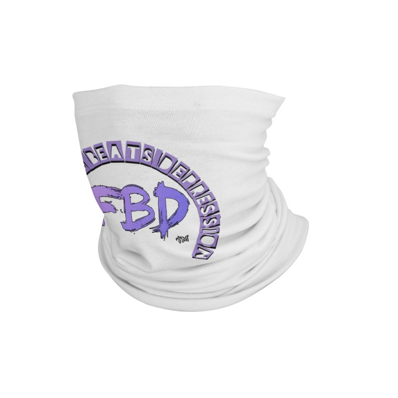 FITNESS BEATS DEPRESSION LAVENDER Accessories Neck Gaiter by Faithful & Focused Store