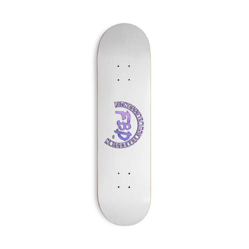 FITNESS BEATS DEPRESSION LAVENDER Accessories Skateboard by Faithful & Focused Store