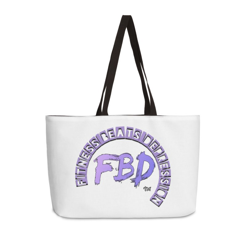 FITNESS BEATS DEPRESSION LAVENDER Accessories Bag by Faithful & Focused Store