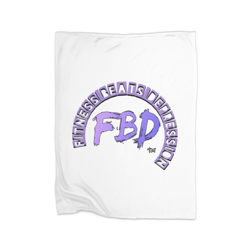 FITNESS BEATS DEPRESSION LAVENDER Home Blanket by Faithful & Focused Store