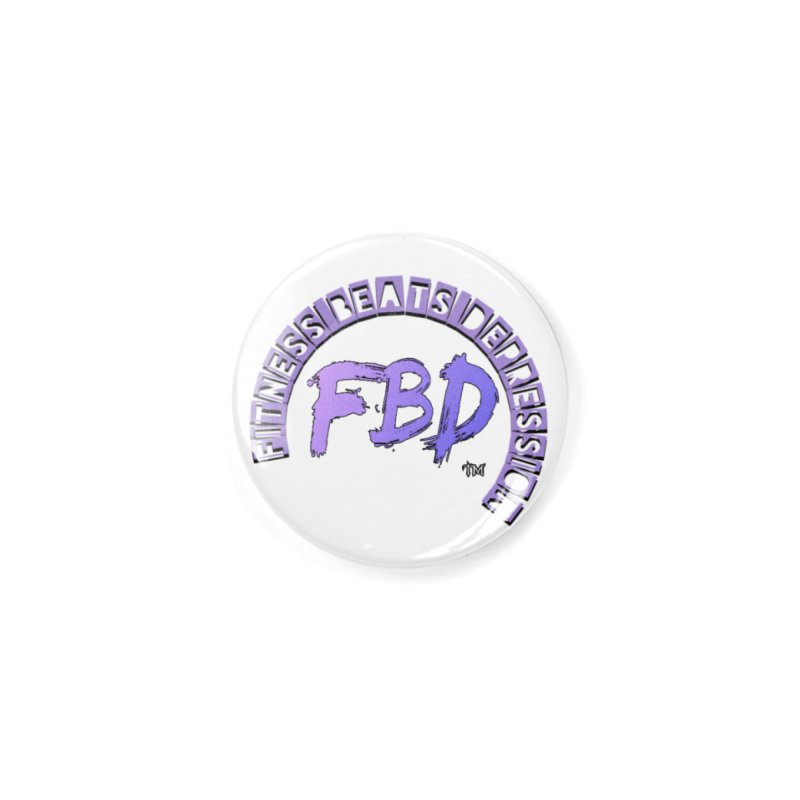 FITNESS BEATS DEPRESSION LAVENDER Accessories Button by Faithful & Focused Store