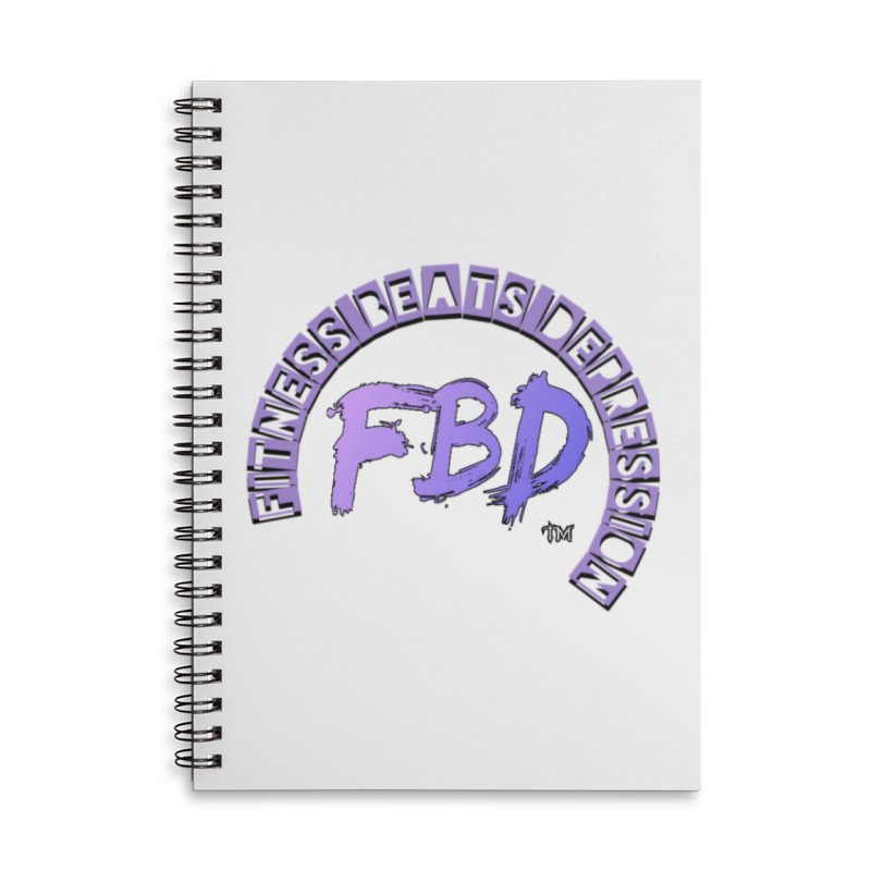 FITNESS BEATS DEPRESSION LAVENDER Accessories Notebook by Faithful & Focused Store