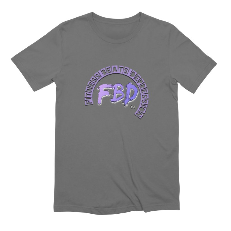 FITNESS BEATS DEPRESSION LAVENDER Men's T-Shirt by Faithful & Focused Store