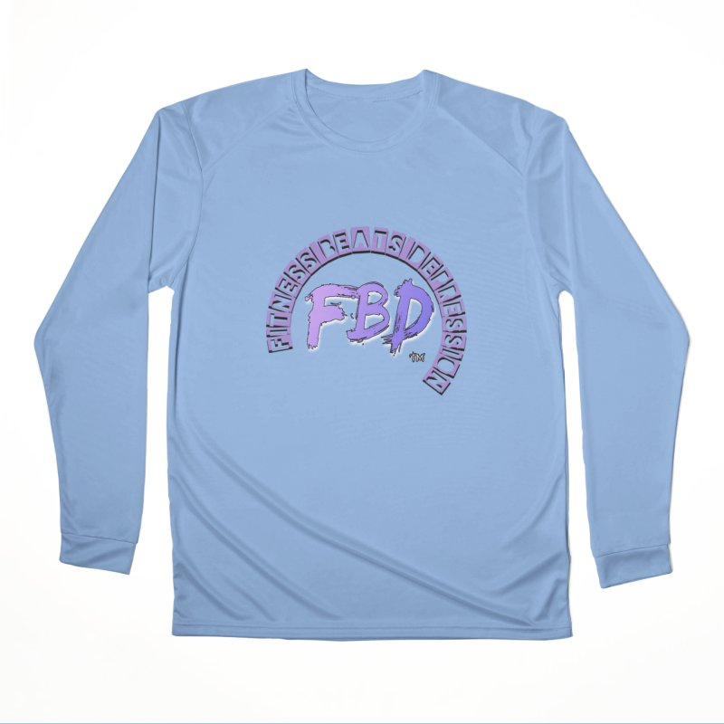 FITNESS BEATS DEPRESSION LAVENDER Men's Longsleeve T-Shirt by Faithful & Focused Store