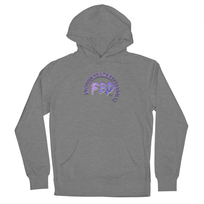 FITNESS BEATS DEPRESSION LAVENDER Men's Pullover Hoody by Faithful & Focused Store