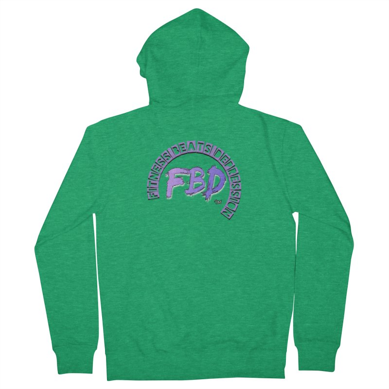 FITNESS BEATS DEPRESSION LAVENDER Women's Zip-Up Hoody by Faithful & Focused Store