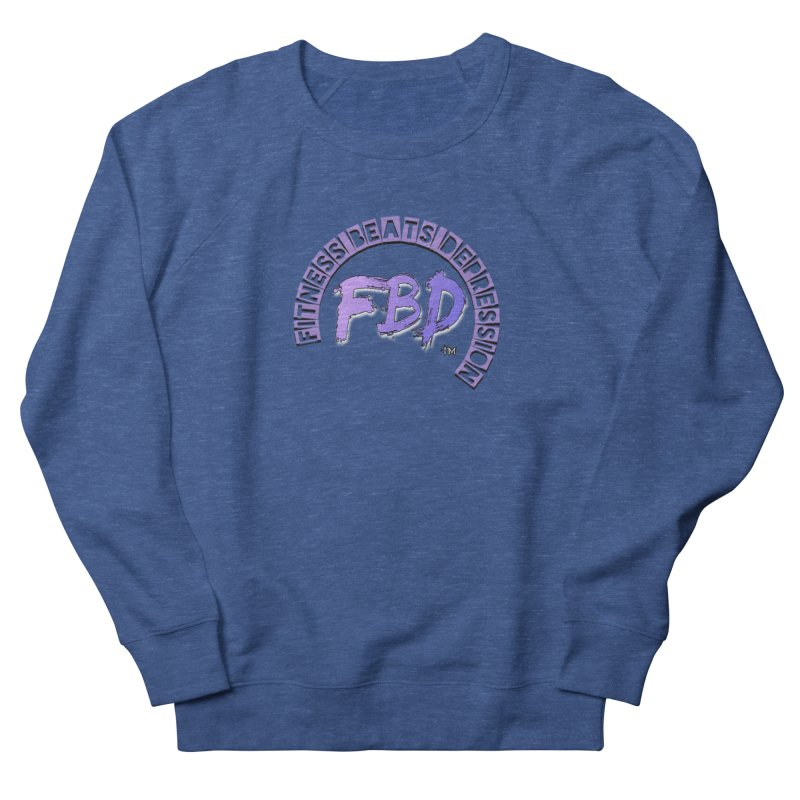 FITNESS BEATS DEPRESSION LAVENDER Men's Sweatshirt by Faithful & Focused Store