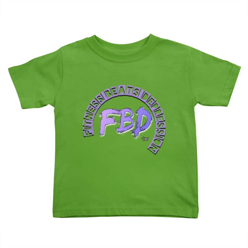 FITNESS BEATS DEPRESSION LAVENDER Kids Toddler T-Shirt by Faithful & Focused Store