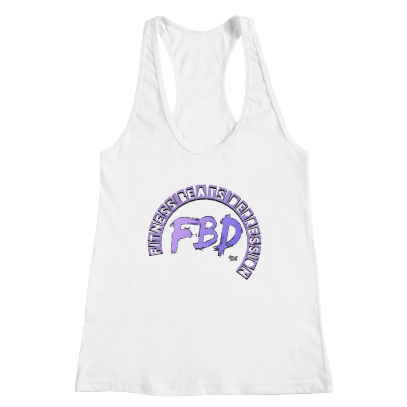 FITNESS BEATS DEPRESSION LAVENDER Women's Tank by Faithful & Focused Store