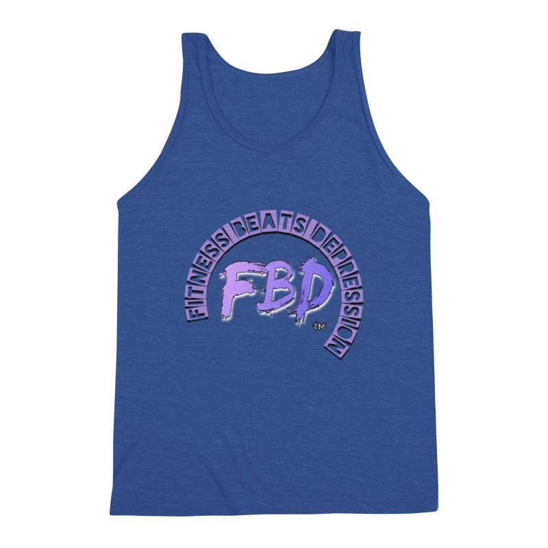 FITNESS BEATS DEPRESSION LAVENDER Men's Tank by Faithful & Focused Store