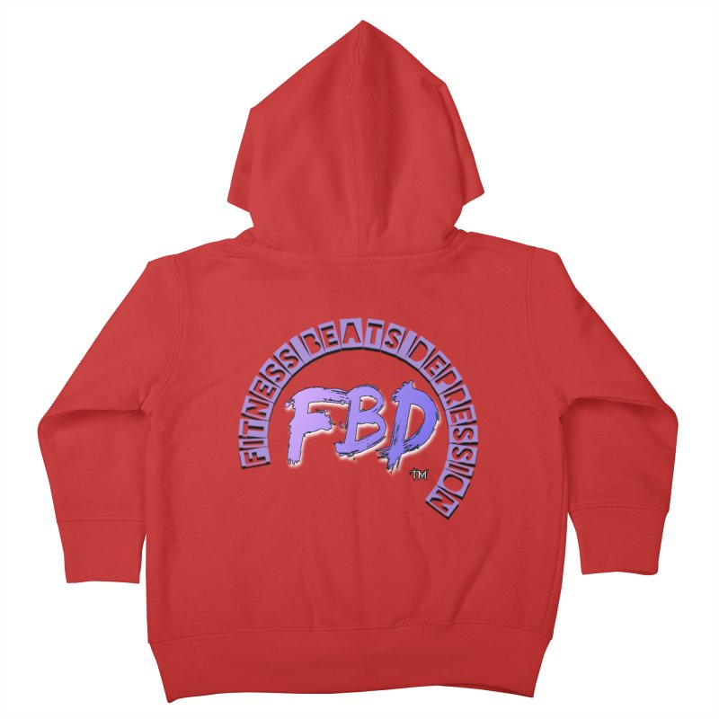 FITNESS BEATS DEPRESSION LAVENDER Kids Toddler Zip-Up Hoody by Faithful & Focused Store