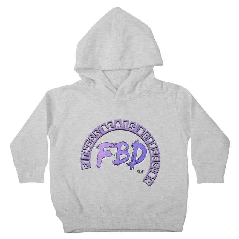 FITNESS BEATS DEPRESSION LAVENDER Kids Toddler Pullover Hoody by Faithful & Focused Store