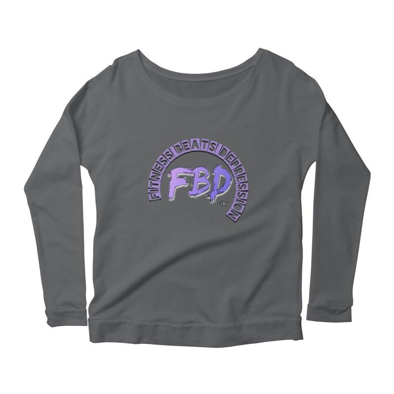 FITNESS BEATS DEPRESSION LAVENDER Women's Longsleeve T-Shirt by Faithful & Focused Store