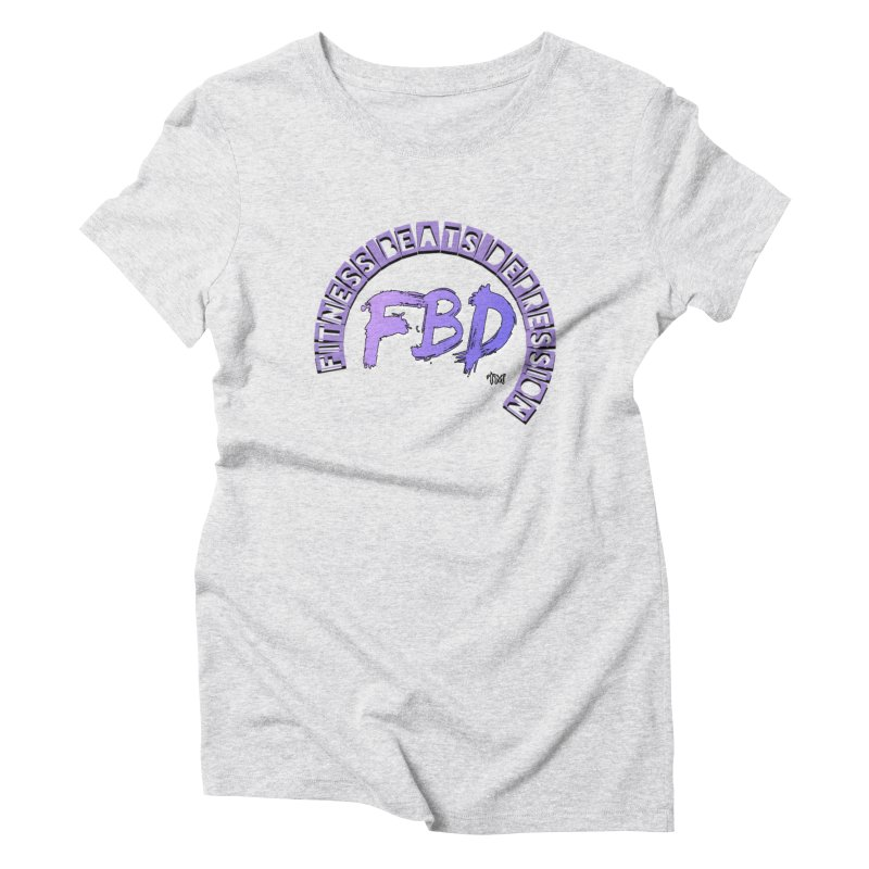FITNESS BEATS DEPRESSION LAVENDER Women's T-Shirt by Faithful & Focused Store