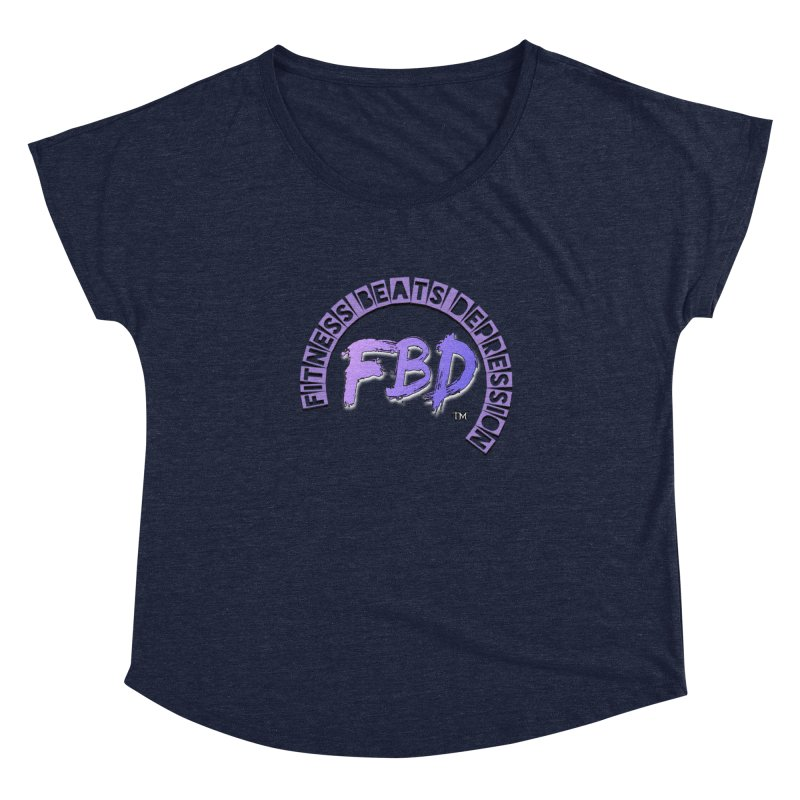 FITNESS BEATS DEPRESSION LAVENDER Women's Scoop Neck by Faithful & Focused Store