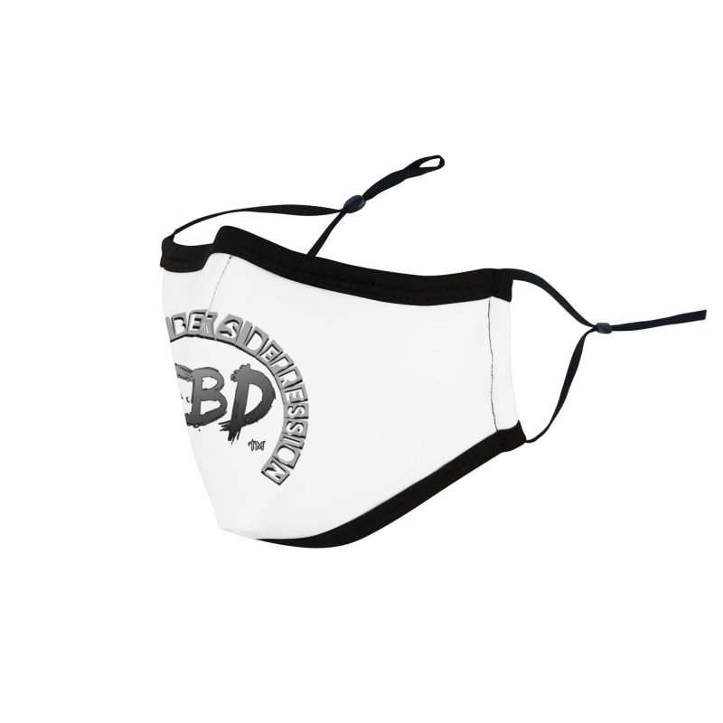 FITNESS BEATS DEPRESSION GREY Accessories Face Mask by Faithful & Focused Store