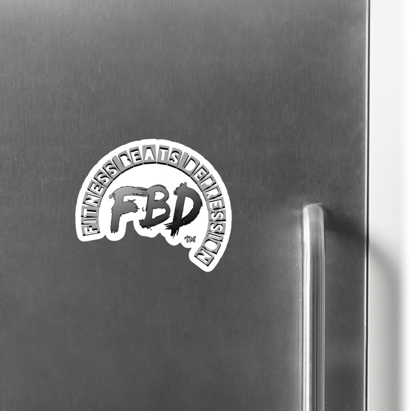 FITNESS BEATS DEPRESSION GREY Accessories Magnet by Faithful & Focused Store