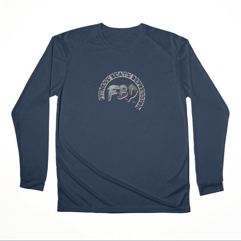 FITNESS BEATS DEPRESSION GREY Men's Longsleeve T-Shirt by Faithful & Focused Store
