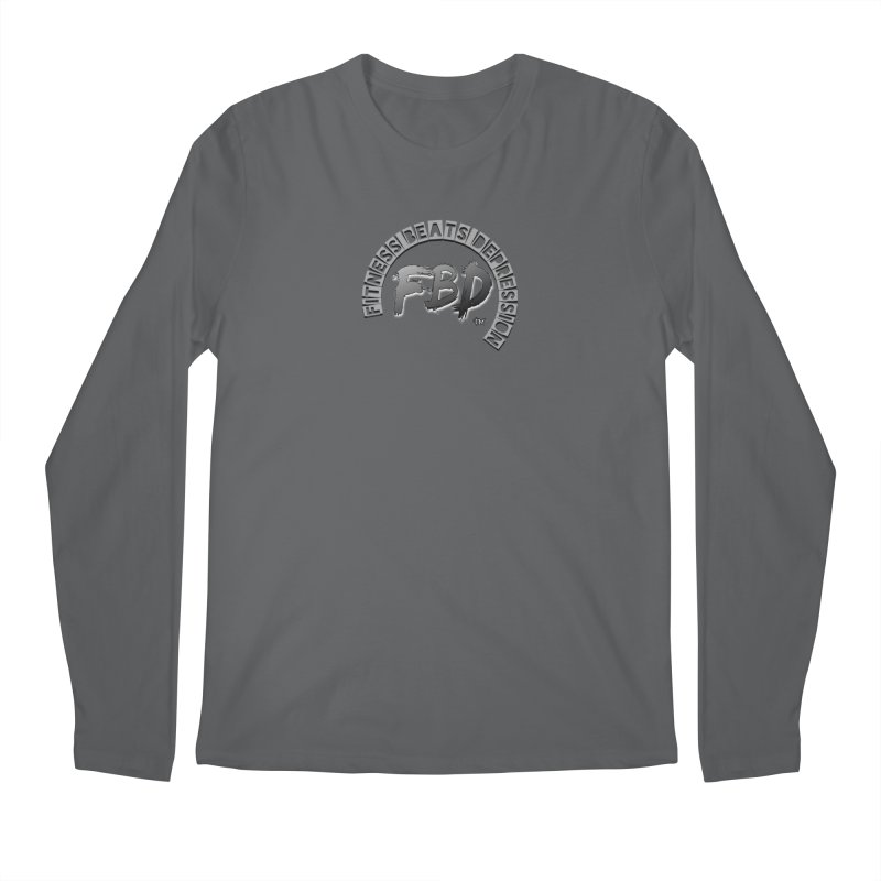 FITNESS BEATS DEPRESSION GREY Men's Longsleeve T-Shirt by Faithful & Focused Store