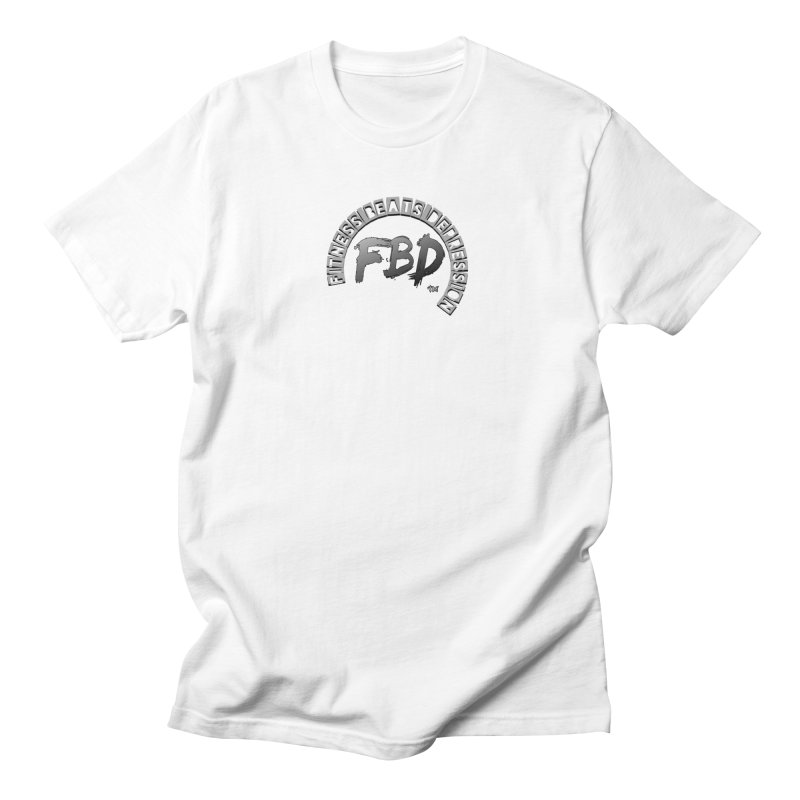 FITNESS BEATS DEPRESSION GREY Men's T-Shirt by Faithful & Focused Store
