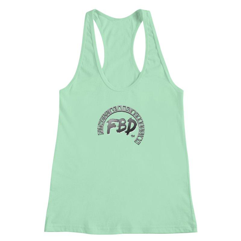FITNESS BEATS DEPRESSION GREY Women's Tank by Faithful & Focused Store