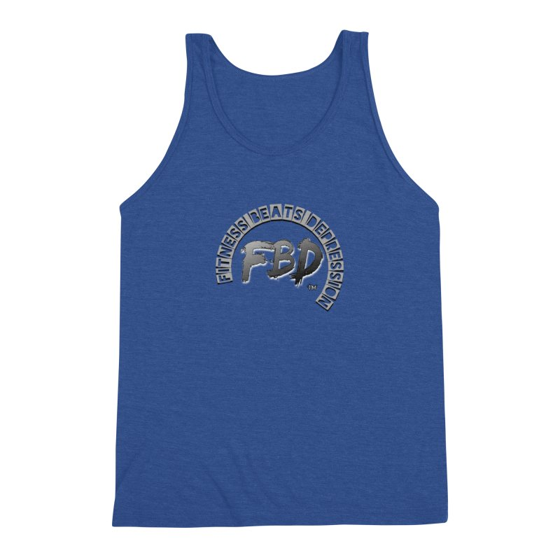 FITNESS BEATS DEPRESSION GREY Men's Tank by Faithful & Focused Store