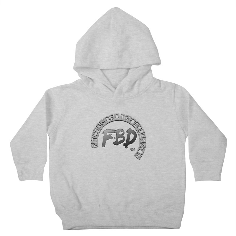 FITNESS BEATS DEPRESSION GREY Kids Toddler Pullover Hoody by Faithful & Focused Store