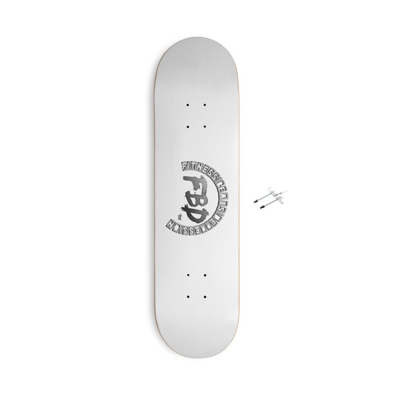 FITNESS BEATS DEPRESSION GREY Accessories Skateboard by Faithful & Focused Store