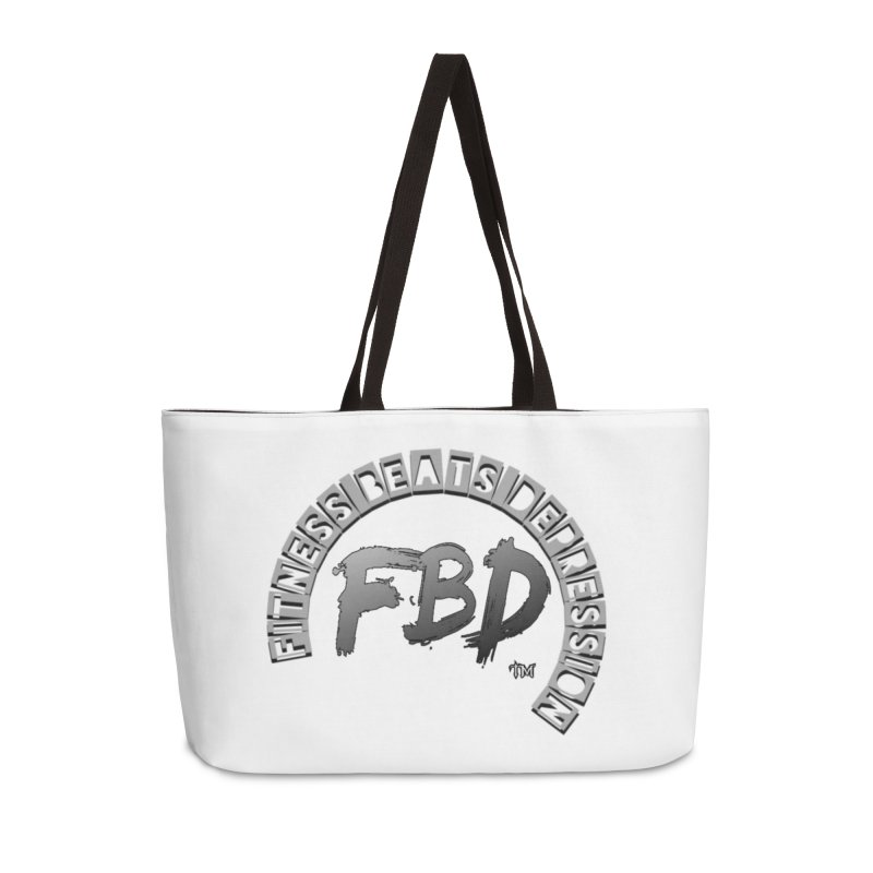 FITNESS BEATS DEPRESSION GREY Accessories Bag by Faithful & Focused Store