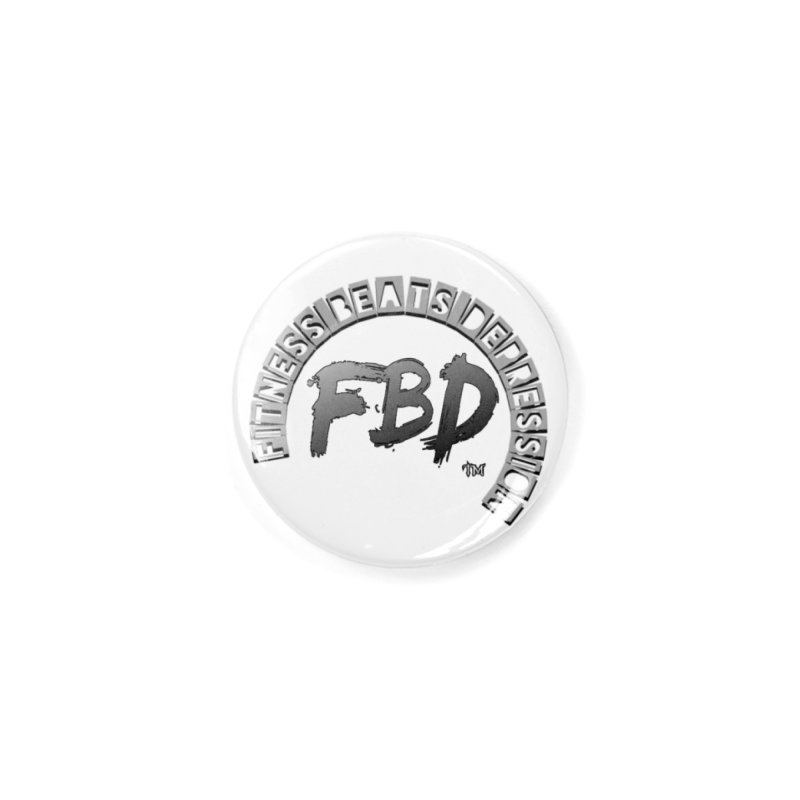 FITNESS BEATS DEPRESSION GREY Accessories Button by Faithful & Focused Store