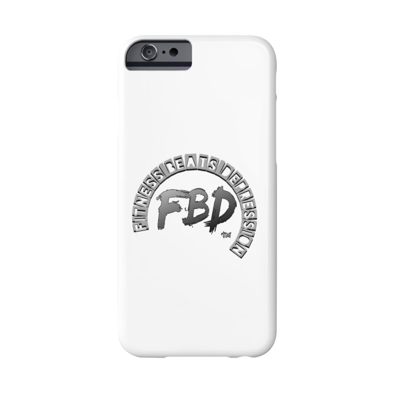FITNESS BEATS DEPRESSION GREY Accessories Phone Case by Faithful & Focused Store