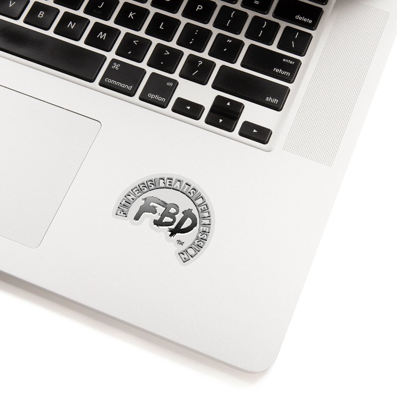 FITNESS BEATS DEPRESSION GREY Accessories Sticker by Faithful & Focused Store