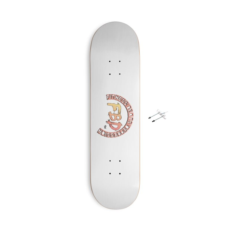 FITNESS BEATS DEPRESSION- CORAL Accessories Skateboard by Faithful & Focused Store