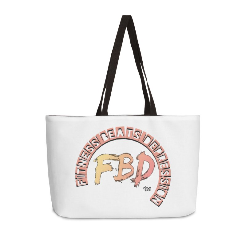 FITNESS BEATS DEPRESSION- CORAL Accessories Bag by Faithful & Focused Store