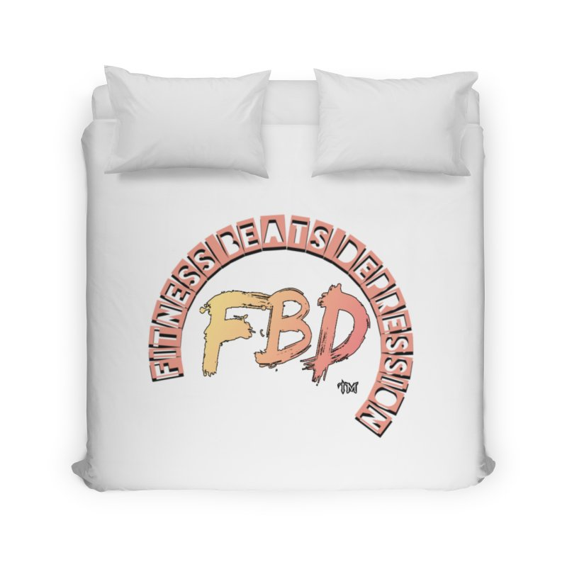 FITNESS BEATS DEPRESSION- CORAL Home Duvet by Faithful & Focused Store