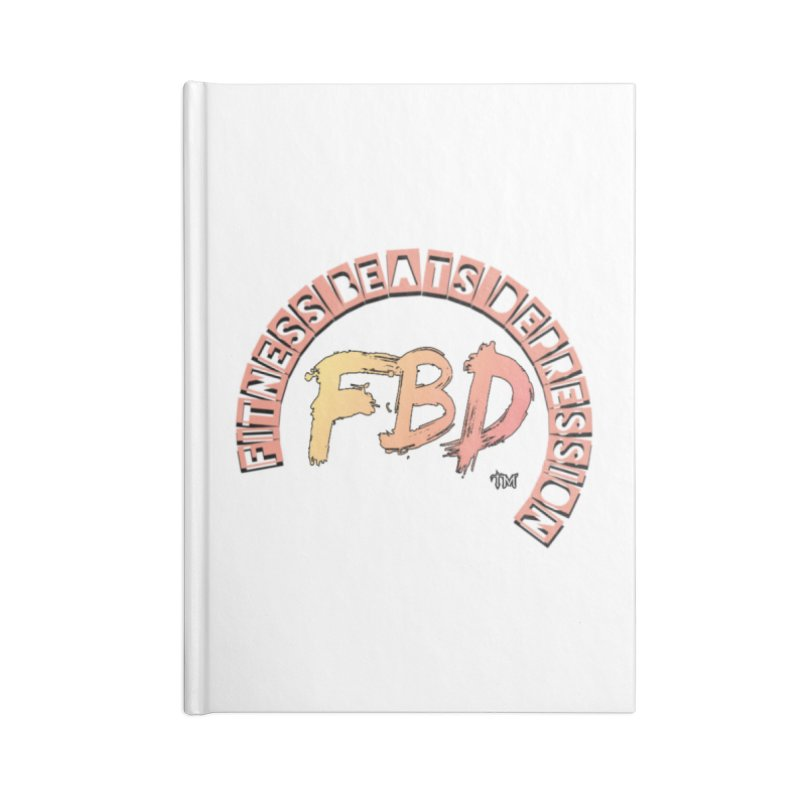 FITNESS BEATS DEPRESSION- CORAL Accessories Notebook by Faithful & Focused Store