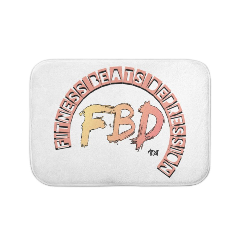 FITNESS BEATS DEPRESSION- CORAL Home Bath Mat by Faithful & Focused Store