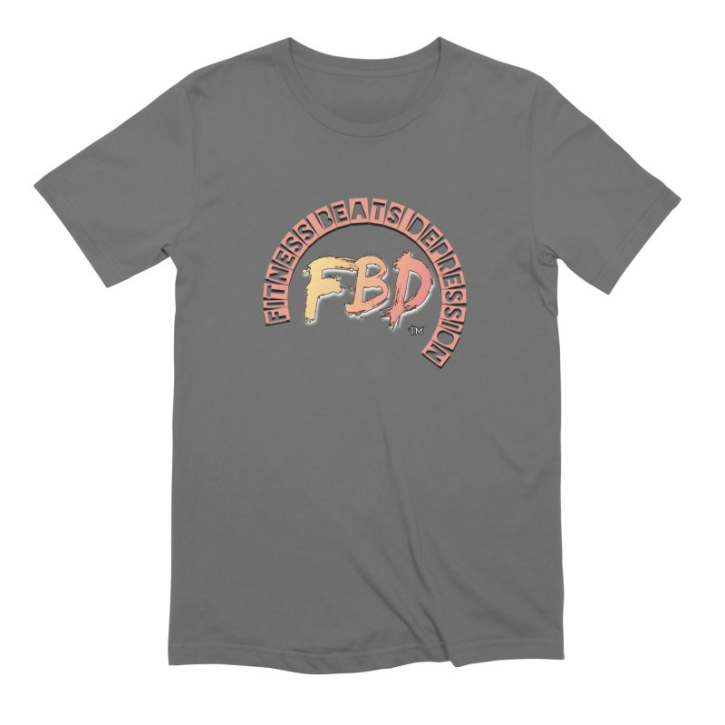 FITNESS BEATS DEPRESSION- CORAL Men's T-Shirt by Faithful & Focused Store
