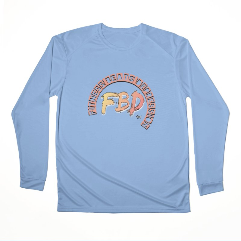 FITNESS BEATS DEPRESSION- CORAL Women's Longsleeve T-Shirt by Faithful & Focused Store