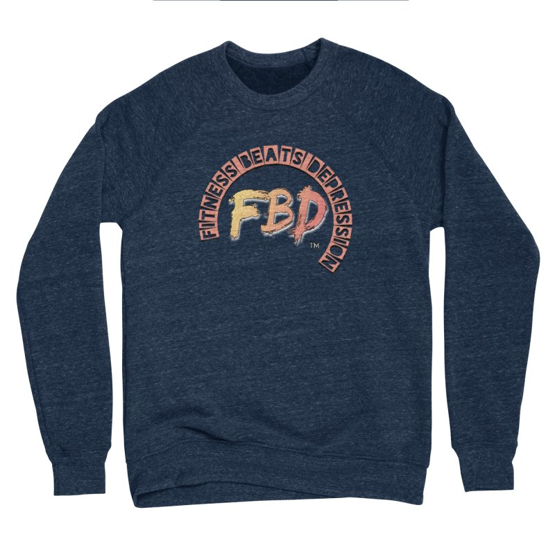 FITNESS BEATS DEPRESSION- CORAL Women's Sweatshirt by Faithful & Focused Store