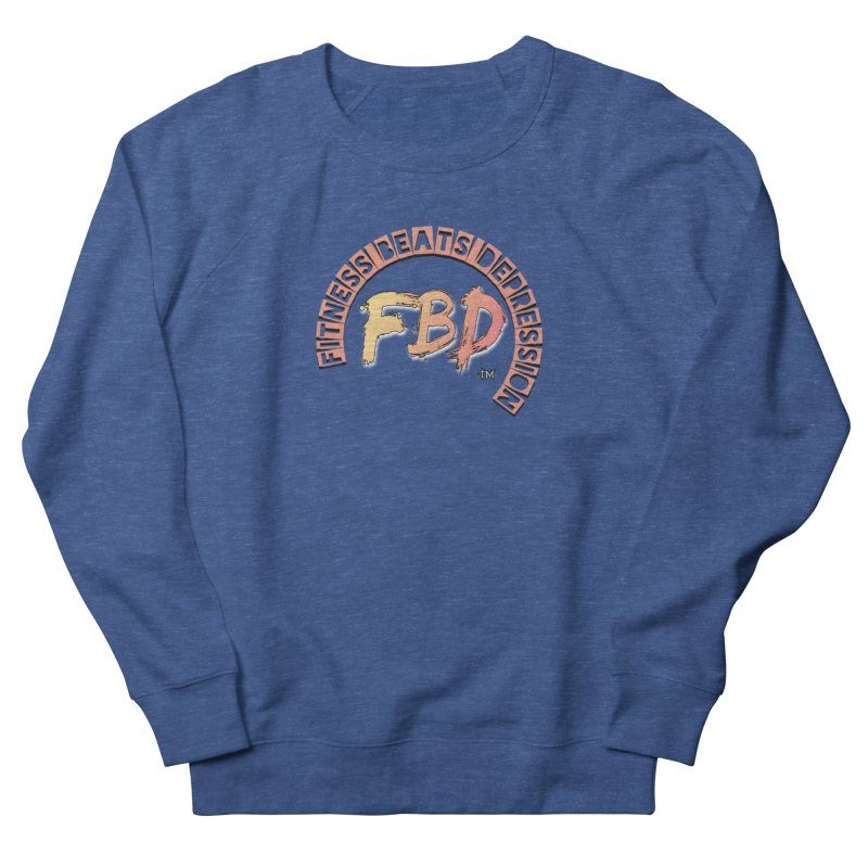 FITNESS BEATS DEPRESSION- CORAL Men's Sweatshirt by Faithful & Focused Store