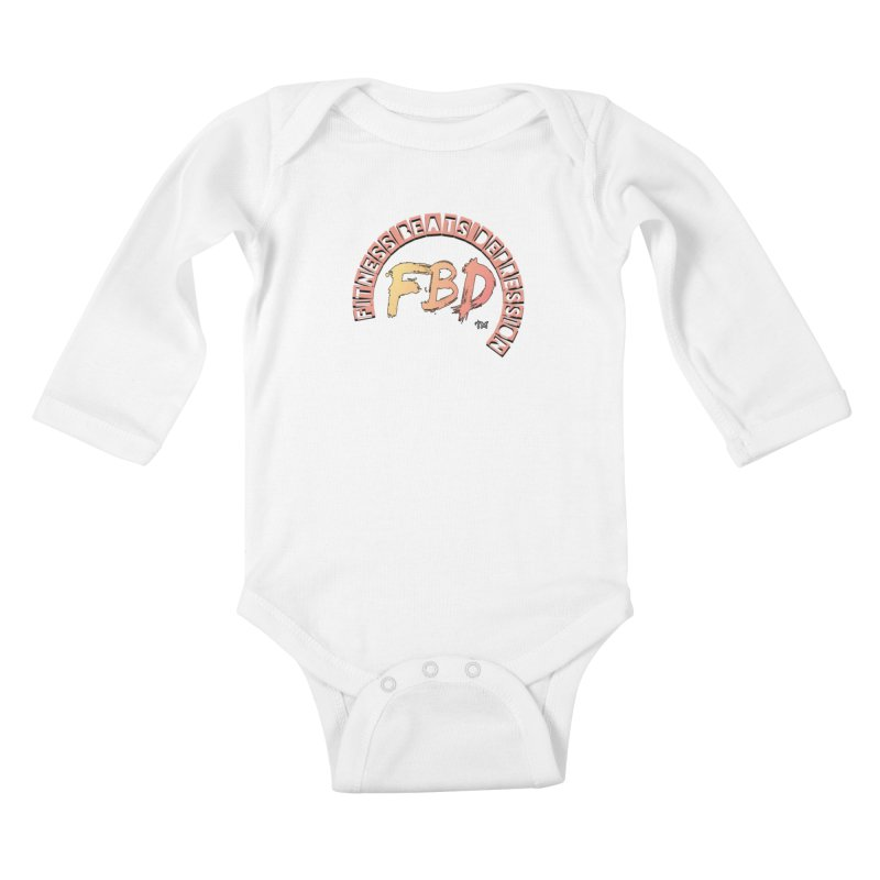 FITNESS BEATS DEPRESSION- CORAL Kids Baby Longsleeve Bodysuit by Faithful & Focused Store