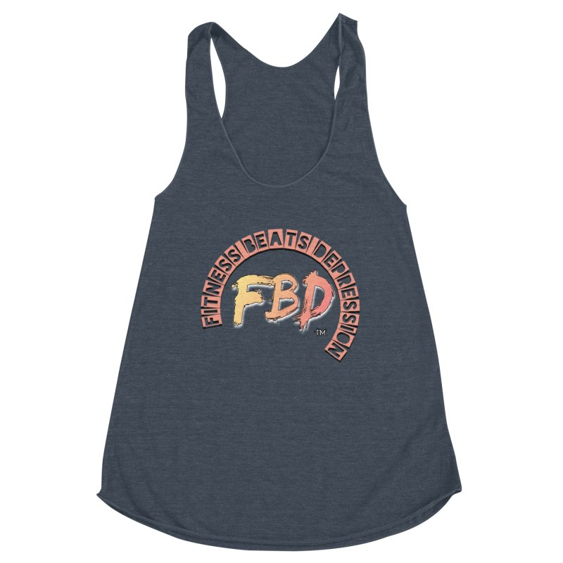 FITNESS BEATS DEPRESSION- CORAL Women's Tank by Faithful & Focused Store