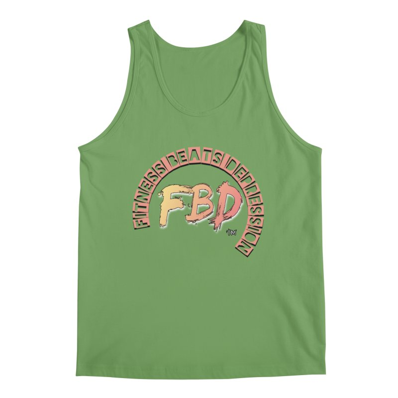 FITNESS BEATS DEPRESSION- CORAL Men's Tank by Faithful & Focused Store