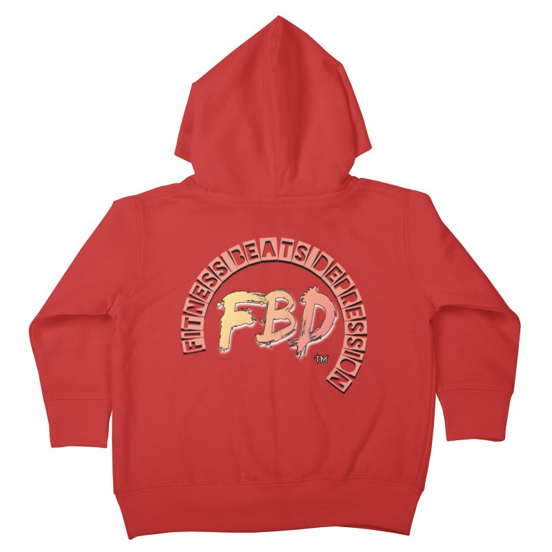 FITNESS BEATS DEPRESSION- CORAL Kids Toddler Zip-Up Hoody by Faithful & Focused Store
