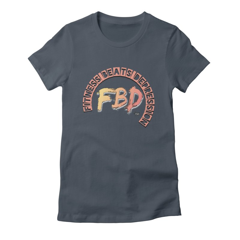 FITNESS BEATS DEPRESSION- CORAL Women's T-Shirt by Faithful & Focused Store