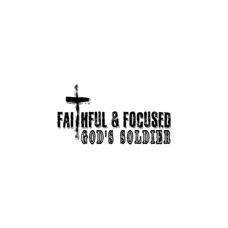 GODS SOLDIER- BLACK AND WHITE LOGO Women's Pullover Hoody by Faithful & Focused Store