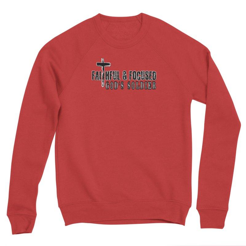 GODS SOLDIER- BLACK AND WHITE LOGO Women's Sweatshirt by Faithful & Focused Store